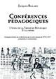 Conférences pédagogiques